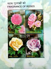 Fragrance Of Roses India 2007 Plant Flora Flower *with smell (ms) MNH *unusual