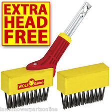 NEW WOLF GARTEN TOOL PATIO GROOVE BRUSH MOSS & WEED REMOVER & SPARE HEAD FBM