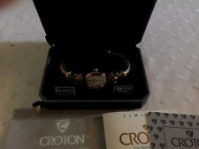 Sterling Silver Ladies Croton Watch Brand New In Original Box Elegant Womens