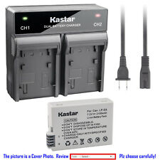 Kastar Battery Fast Dual Charger for Canon LP-E8 LC-E8 & Canon EOS 600D Camera