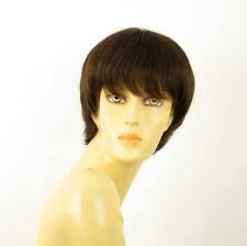 Perruque femme 100% cheveux naturel châtain ref LALIE 6