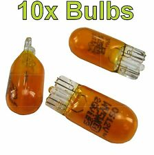 #PACK of 10#T10 501 W5W Bulb Amber Indicator repeater orange wedge car flasher