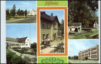 DDR Postkarte Jößnitz Kr. Plauen ua. Gaststätte Pfaffenmühle, Oberschule, uvm.
