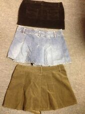 Size 11 12 Skirts Mini Black So Old Navy Jean Green Pleated Design Lot Of 3