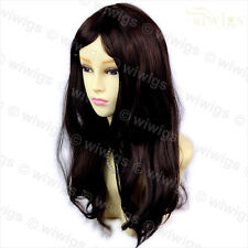 Wiwigs Long Wavy Dark Brown & Auburn Mix Ladies Wig