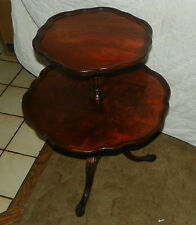 Mahogany 2-Tier Table / Dumbwaiter Table by Mersman (T128)