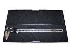 "12"" Stainless Electronic Digital Vernier Caliper Gauge LCD Display Metric / SAE"