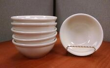 """Set of 6 Off-White CAC China Soup Cereal Salad Bowls, 5 1/2"""" Diameter"""
