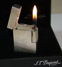 S.T.DUPONT FEUERZEUG LINIE 1 KLEIN SILBER von 2014 FULLSET LIGHTER