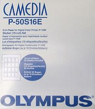 OLYMPUS CAMEDIA P-50 S16E Sticker (16-cut) Set (for P-150E)