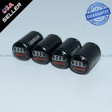 Black CAR Airtight Wheel Tyre Tire Air Valve Caps Stem Cover With Audi Emblem
