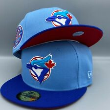 Toronto Blue Jays 30th Season New Era 59FIFTY Fitted 2 Tone Blue Hat Red Bottom