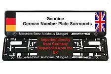 MERCEDES AMG Autohaus Number Plate Surrounds X 2 CLK CL55 SL55