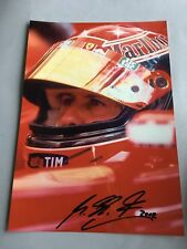 MICHAEL SCHUMACHER in-person signed autograph photograph 8 x 11
