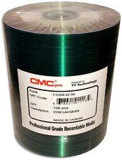 100-Pak CMC PRO (TY Technology) Shiny-Silver 52X 80-Min Silver/Lite-Blue CD-R's