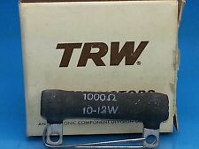 TRW IRC 1000 1K OHM 10 - 12 WATT NOS RESISTOR WIREWOUND METAL GLAZE  GUITAR AMP