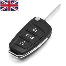 UK Seller 3 Button FLIP REMOTE KEY FOB CASE & Blade For AUDI A4 A6 A3 TT A8 Q7