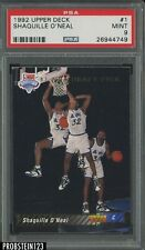 1992-93 Upper Deck #1 Shaquille O'Neal Orlando Magic RC Rookie HOF PSA 9