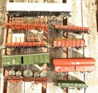 Fleischmann-Roco H0 Konvolut 9 x Güterwagen der DB Epoche 3/4 teilweise KKK