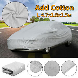 Waterproof Full Car Cover Dust Sun UV Snow Ice Resistant All Weather Protection