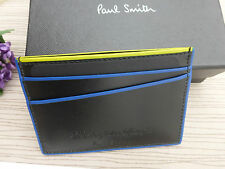 BNWT PAUL SMITH Handcrafted Piped Leather Credit Card Holder Wallet SALE
