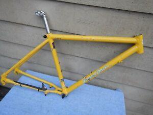 "17"" Diamond Back Arrival Vintage Mountain Bike Frame Deore XT Yellow Diamondback"
