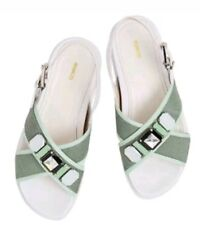 💕💕💕 MIMCO NEW 39 Or 8 SEAFOAM PIXELS FLATS SHOES SANDALS  💟💟💟