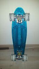 Ridge Blaze Mini Cruiser Skateboard Skate Transparent Roues Lumineuses *NEUF*