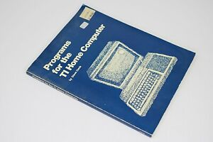 Programs For The TI Home Computer by Steve Davis 1983 1st Ed Vintage Computing