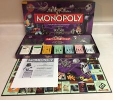 Monopoly: The Nightmare Before Christmas (Board Game, Collector's Edition) RARE
