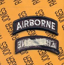 US ARMY AIRBORNE TAB BLACK & WHITE patch m/e