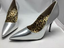 David Dalrymple For House Of Field Heels Shoes Size 11W Sliver Stock# 369608 NIB
