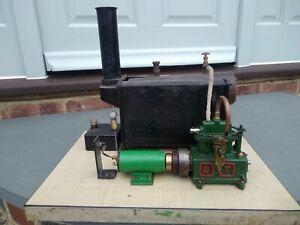 Antique/Vintage Mamod 501 Model Steam Engine plus Generator/Dynamo