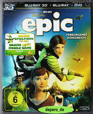 """""""EPIC - VERBORGENES KÖNIGREICH"""" - 3D + 2D BLU RAY - 3-Disc-Set im Pappschuber"""
