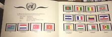 United Nation 1980 Souvenir Folder Flag Topic Stamps MNH