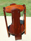 Antique Mission Style Round Side End Table Stickley Roycroft Era c. 1915 Unmarke