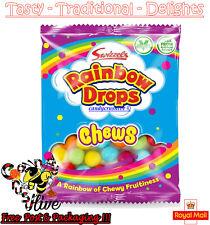 Swizzels Rainbow Drops Chews Fruit Flavour Chew Sweets Kids Party Bag - 135g