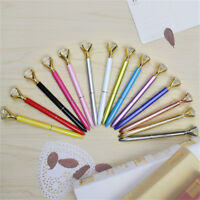 Fashion Metal Diamond Head Crystal Ball Pen Concert Pen Creative Stationery Gift