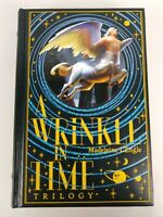 A Wrinkle In Time Book by Madeleine L'Engle Leather Bound Set Hardcover Trilogy