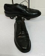 Men's DEXTER SHOES Size 10C BLACK LEATHER WINGTIP OXFORD  MADE IN USA (POINT5)