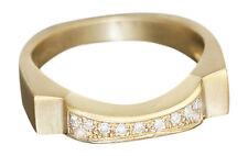 Brillantring 585 - modernes Design - massiver Goldring - Ring Gold - Damenring