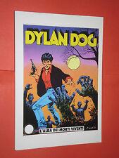 CARTOLINA PUBBLICITARIA- DYLAN DOG N°34-daim press-ed.lo vecchio-alba dei morti