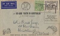 AFC132) Trans-Tasman flight 10 April 1934 from Sydney to Christchurch (AAMC369)