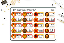 1322~~Thanksgiving Countdown Planner Stickers.