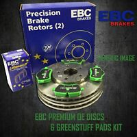 EBC REAR BRAKE DISCS + GREENSTUFF PADS KIT SET OE QUALITY PD01KR664