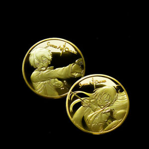 Sword Art Online Kirigaya Kazuto Commemorative Coins Double Sided Collect Gifts