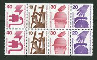 Berlin alle C + D Werte 407,406,404,403 postfrisch H Blatt 17 Unfallverhütung