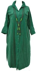"""PLUS SIZE BOOTLE COTTON CORD LONG SHIRT-DRESS BUST UP TO 54"""" XL-XXL"""