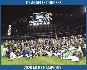 LA DODGERS 2020 MLB Champions - 8x10 Team Celebration Photo
