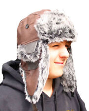 Leather Men's Winter Trapper Hat